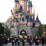 The Band Playing in the Disney Parade, Disneyland Paris