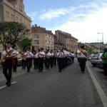 The band on Parade in Sopron