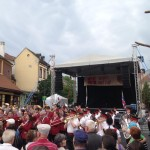 Massed bands gathering in Sopron